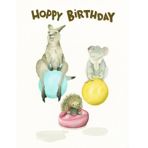 Squirrel Design Studio Greeting Card - Happy Hoppers