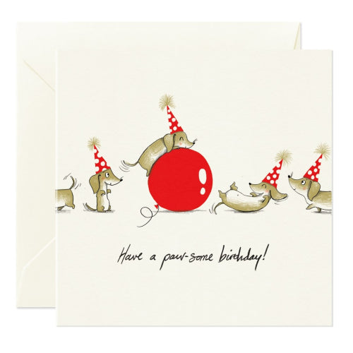 Card Nest Greeting Card - Paw-some Birthday