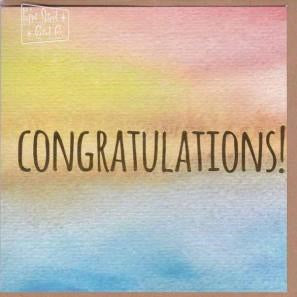 Paper Street Greeting Card - Congratulation Colour