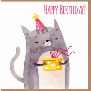 Paper Street Greeting Card - Birthday Cat