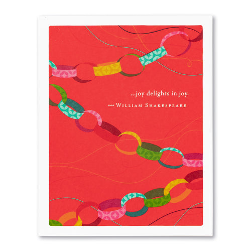 Positively Green Greeting Card - Joy delights in joy