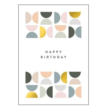 The Art File Greeting Card - Balance Collection, Tiled Pattern