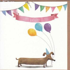 Paper Street Greeting Card - Happy Birthday Balloon Dog