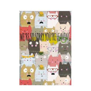 Paper Street A4 Card - Sorry You're Leaving Cats