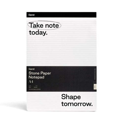Karst Notepad - Ruled, A4, Black