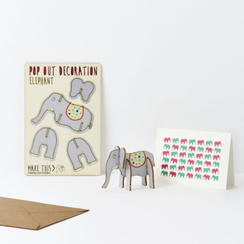 Pop Out Card - Elephant
