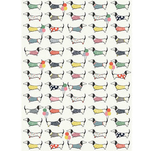 The Art File Gift Wrap - Dachshunds  (Click & Collect Only - Cannot be Shipped)
