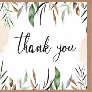 Paper Street Greeting Card - Thank You Leaves