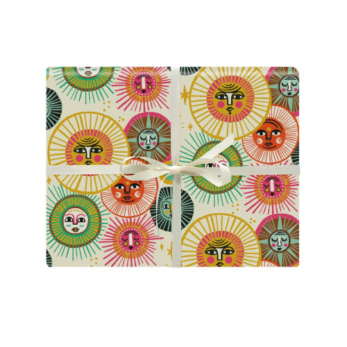 Idlewild Co. Gift Wrapping Paper - Suns (Click & Collect Only - Can not be shipped)