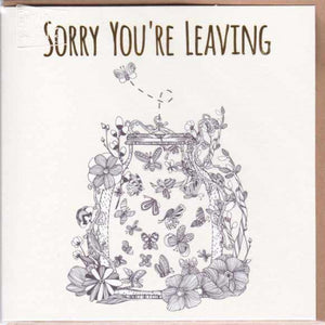 Paper Street Greeting Card - Sorry You're Leaving, Bug Jar