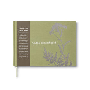 Compendium Funeral Guest Book - A Life Remembered