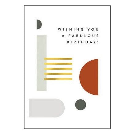 The Art File Greeting Card - Balance Collection, Magnificent Birthday