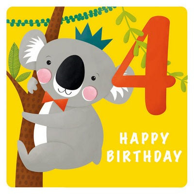 The Art File Greeting Card - Age Collection, 4th Koala