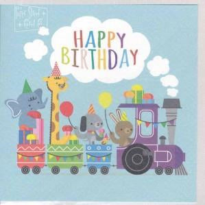 Paper Street Greeting Card - Birthday Train