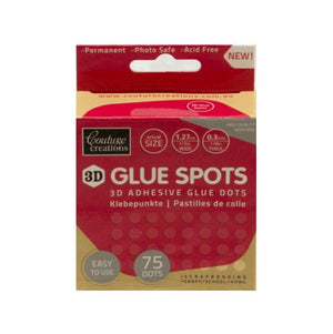 Couture Creations Glue Spots - 1.27 cm x .3mm, 75 Dots