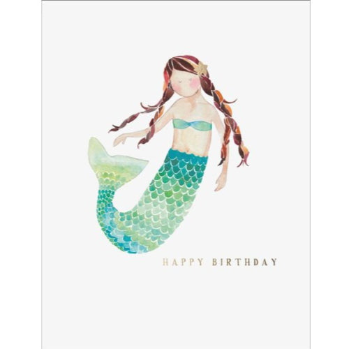 E Frances Greeting Card - Mermaid Birthday
