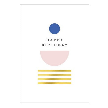 The Art File Greeting Card - Balance Collection, Blue Circle