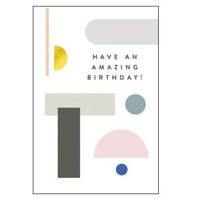 The Art File Greeting Card - Balance Collection, Amazing Birthday