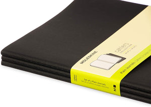 Moleskine Cahier Notebook - Plain, Extra Large, Black