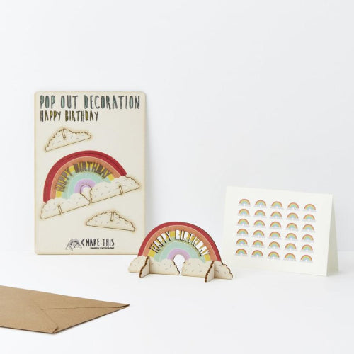 Pop Out Card - Rainbow Happy Birthday
