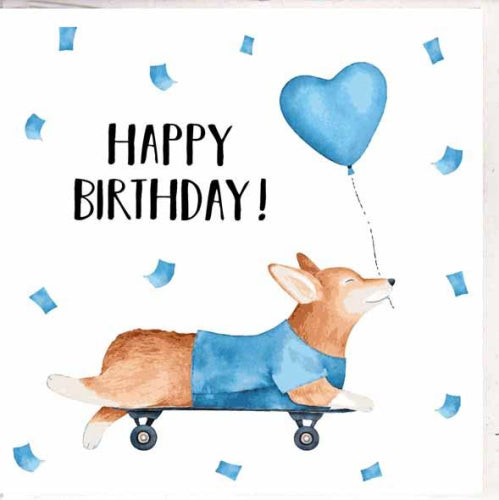 Paper Street Greeting Card - Corgi Birthday