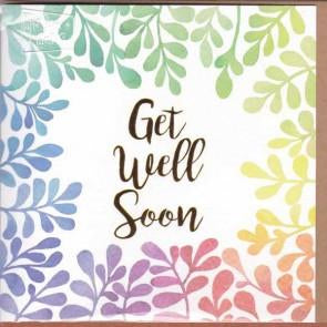 Paper Street Greeting Card - Get Well Soon Leaves