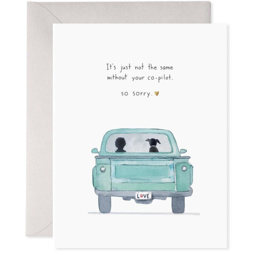 E Frances Greeting Card - Co-Pilot Dog