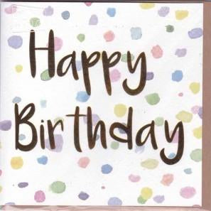Paper Street Greeting Card - Happy Birthday Spots
