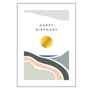 The Art File Greeting Card - Balance Collection, Golden Circle