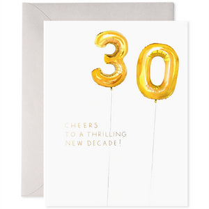 E Frances Greeting Card - Helium 30th