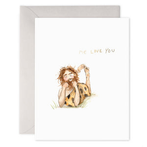 E Frances Greeting Card - Caveman