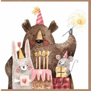 Paper Street Greeting Card - Forest Friends Birthday