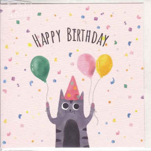 Paper Street Greeting Card - Happy Birthday Cat