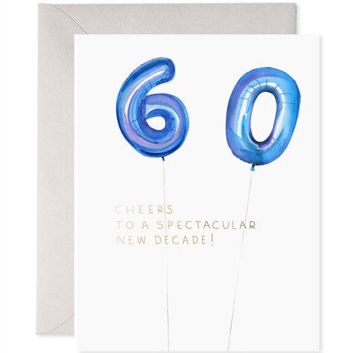E Frances Greeting Card - Helium 60th