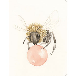 Squirrel Design Studio Greeting Card - Bubble Bee