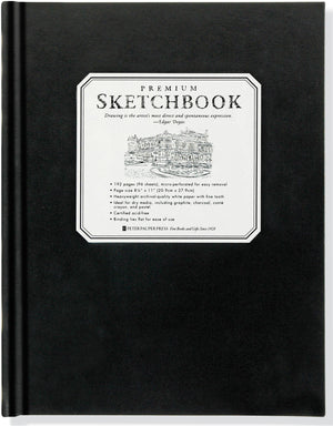Studio Series Premium Sketchbook - Large, White Pages