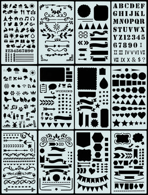 Essentials Dotted Journal Stencil Set