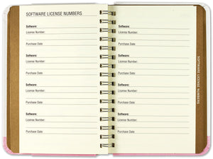 Internet Address & Password Logbook - Tree of Hearts