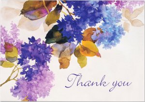 Thank You Note Card Set - Lilacs