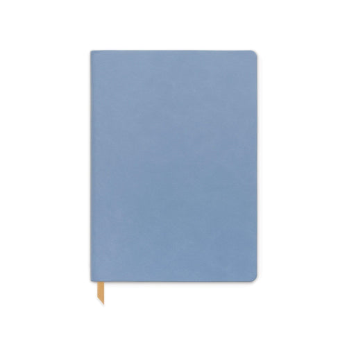 Designworks Vegan Leather Notebook - Large, Cornflower Blue