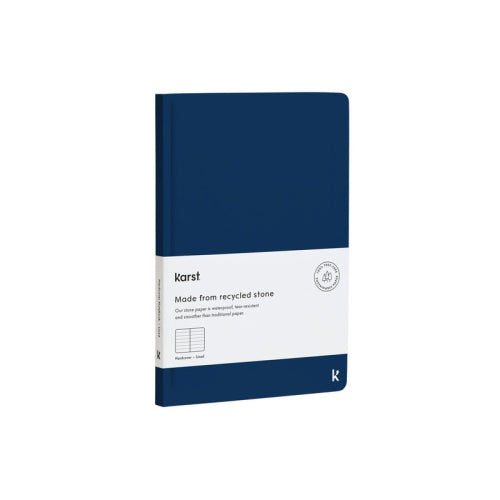 Karst Hard Cover Notebook - Ruled, A5, Navy
