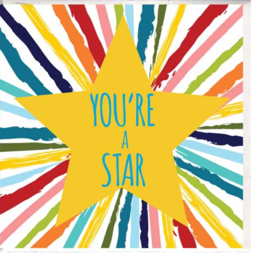Paper Street Greeting Card - You're a Star, Colourful