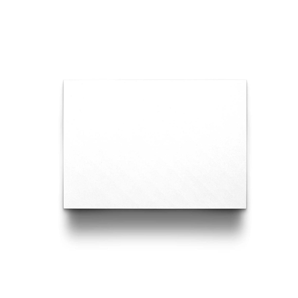 Blank Note Cards - A6 (105 x 148mm), Flat, White