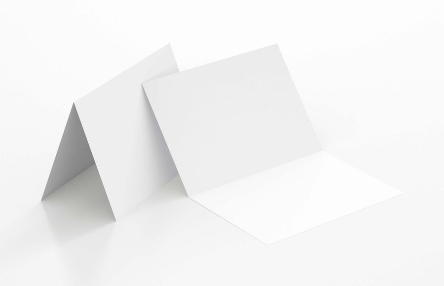 Black Note Card - A6 (105 x 148mm), Folded, White | Paperpoint | Paperpoint Stationery South Melbourne