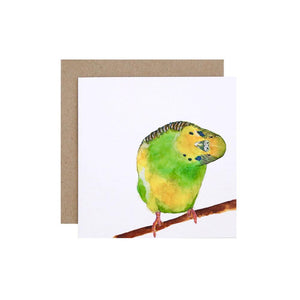 Berty the Budgie Greeting Card