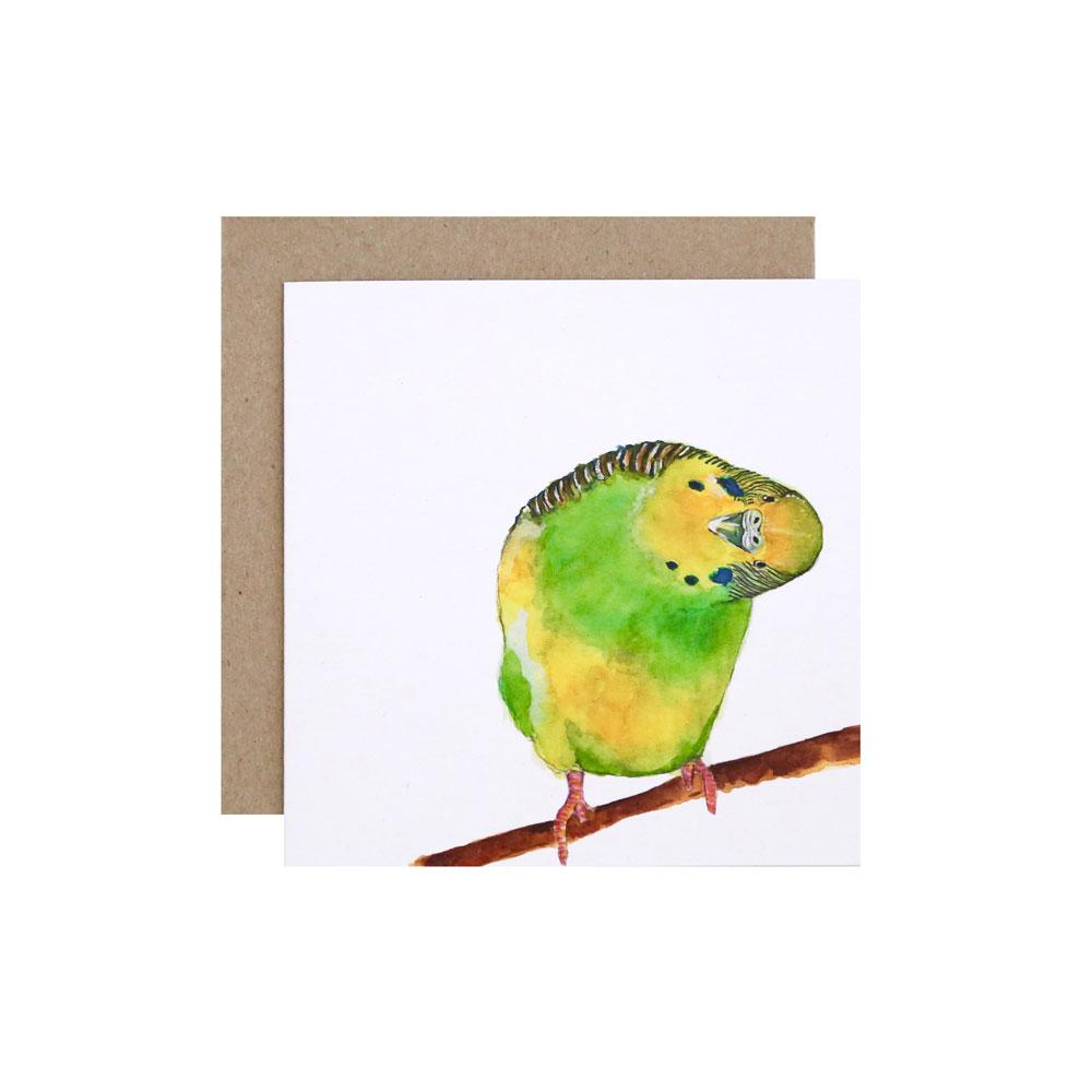 For Me By Dee Greeting Card - Berty the Budgie