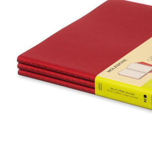 Moleskine Cahier Notebook - Plain, Extra Large, Red