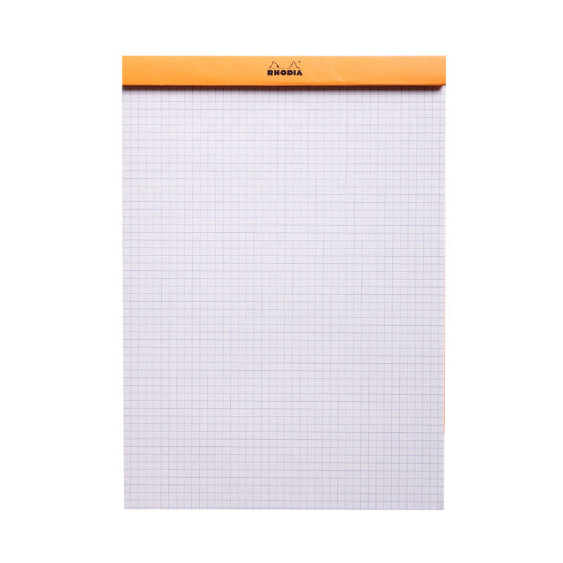 Rhodia #18 Notepad - Top Stapled - Squared, A4, Orange
