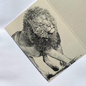 Marini Ferlazzo Greeting Card - World Animal Protection Collection, African Lion