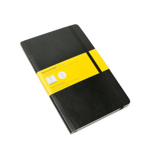 Moleskine Soft Cover Notebook - Squared, Large, Black | Moleskine | Paperpoint Stationery South Melbourne